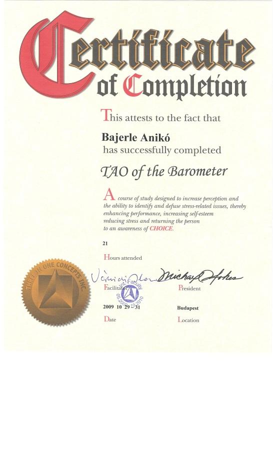 A TAO baromeriája